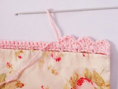 Great direction for sewing a pillowcase and for adding a crochet edging - interesting start.