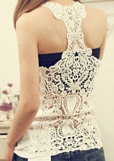 Lace Tank Cami Hollow-out