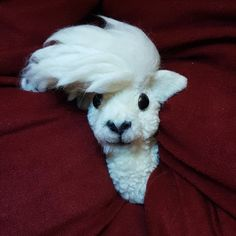 Alpaca, Pompom animal, Pompomfairyart