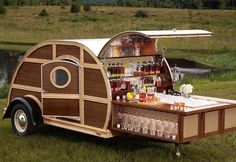 Bulleit Frontier Whiskey Woody-Tailgate Trailer #want!