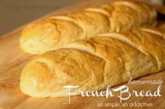 This French bread recipe is bad news...  The temptation to eat an entire loaf before supper time is entirely overwhelming.  Try it if you dare....