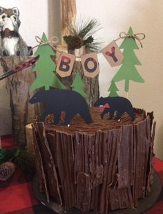 Excited to share this item from my shop: Mama bear topper , lumberjack party cake topper , baby shower Baby Shower Cakes For Boys, Baby Shower Cupcakes, Baby Shower Themes, Baby Boy Shower, Shower Ideas, Lumberjack Cake, Lumberjack Birthday Party, Woodland Theme Cake, Boys 1st Birthday Cake