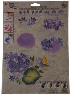 FolkArt One Stroke Painting Reusable Laminated Teaching Guide Lot 36 Lilacs 1165 - The top trends to try in 2019 One Stroke Painting, Painting Tips, Stroke Therapy, Donna Dewberry Painting, Cooking With Olive Oil, Lilac Flowers, Paint Stain, Acrylic Art, Art Tutorials