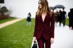 Paris Haute Couture Spring 2015 Street Style. Love the headband.