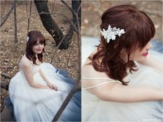 Red, Navy, White Wedding. Red Colour palette, Modern Wedding, Ombre Wedding Dress, Bride Hair www.lunafay.co.za