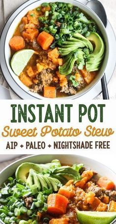 Easy Instant Pot Sweet Potato & Beef Stew (AIP Paleo) - [low allergen and anti-inflammatory gluten free recipes from rally pure] autoimmune protocol compliant dairy free grain free top 8 free egg free Paleo Recipes, Whole Food Recipes, Soup Recipes, Paleo Meals, Irish Recipes, Crockpot Meals, Gluten Free Recipes Instant Pot, Easy Recipes, Amazing Recipes