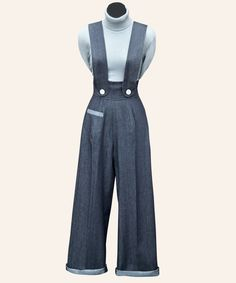 Pinafore Trousers   1950s Dresses from Vivien of Holloway    Love these trousers!