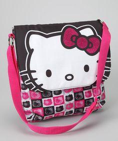 682857025e93 Hello Kitty Hello Kitty Pink   Black Comic Strip Crossbody Bag