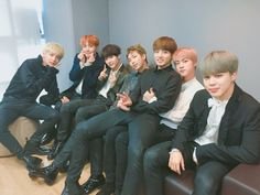 Little maknae Jungkook sitting on mama Jin's lap ugh what a cute family