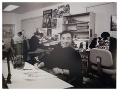 seanhowe:  Jim Lee.  Photo take in the old Romitas Raiders room at 387 Park Ave. South, where the art corection staff worked.