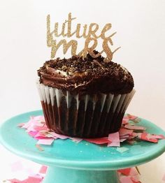 Future Mrs. Glitter Cupcake Toppers, Set of 24 by The Posie Project on Scoutmob Shoppe