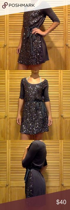 Armani Exchange sequin dress S Worn a handful of times. So elegant, but can be dressed down. Perfect for a warm summer date. Armani Exchange Dresses Midi