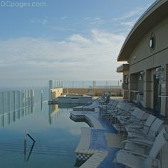 This is my favorite place to be in the world! Top of the Hilton on the oceanfront at Virginia Beach. Can someone PLEASE tell my husband!!!