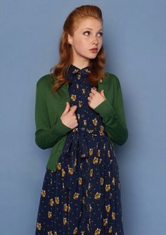 I like the fox pattern on the dress; perhaps it could be found on a shirt!
