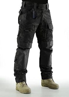 ZAPT Breathable Ripstop Fabric Pants Military Combat Multi-Pocket Molle Tactical Pants with EVA Knee Pads Mens Tactical Pants, Tactical Wear, Tactical Clothing, Mens Gear, Combat Pants, Combat Gear, Mode Cyberpunk, Pantalon Cargo, Herren Style