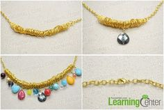 Step 3: finish the charm necklace DIY