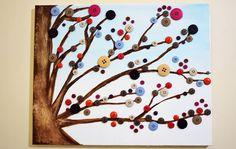 quadros artesanais para o dia das mães com botões - Pesquisa Google