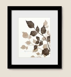 Tan And Brown Wall Art for Living Room, Tree Art Print, Tree Leaves, Bedroom Wall Art, Dining Room Wall Decor Dining Room Wall Decor, Living Room Art, Dining Rooms, Tree Wall Art, Tree Art, Leaf Prints, Wall Art Prints, Brown Wall Decor, Bamboo Wall