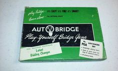 Vintage Metal Autobridge Advanced Play-Yourself Game +REFILLS! 1957 Auto Bridge