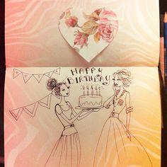 #happybirthday #birthday #birthdaygirl #happybdaycard #card #sketch #bdaysketch #lovemysister #drawing #handmade #mysketch #mydrawing #craft #sketching #birthdaysurprise #sharethelove #bdayparty #journal #journalsketch #ilovejournaling #notebook #smashbook #junkjournal #buoncompleanno #sorellona #sorpresa #illustration