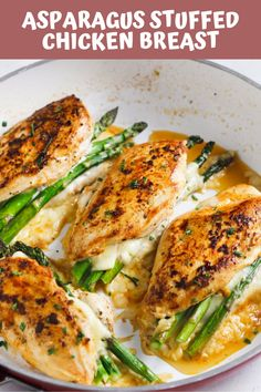 Gluten free · Makes fast, easy, and delicious Asparagus Stuffed Chicken Breast recipe is a perfect meal for your weeknight dinner and requires only 4 major ingredients. New Recipes For Dinner, Easy Chicken Dinner Recipes, Healthy Chicken Recipes, Easy Meals, Keto Recipes, Weeknight Meals, Healthy Food, Dessert Recipes, Healthy Eating