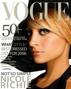 Nicole Richie   This cover is a-ma-zing.