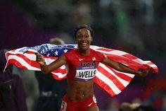 Kellie Wells - Olympic Bronze Medal winner. Her story is so incredible