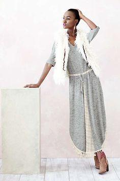 Anthropologie - Tasseled Maxi Dress