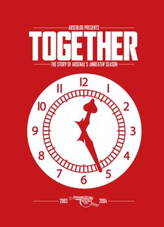 Together: the story of Arsenal's unbeaten season / book by Arseblog  Andrew Allen / cover design by Josh Combs