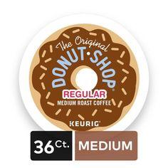 The Original Donut Shop Coffee Regular Keurig Single-Serve K-Cup Pods, Medium Roast Coffee, 36 Count Pod Coffee Makers, Coffee Pods, Donut Shop Coffee, Nitro Coffee, Green Mountain Coffee, Serving Bowl Set, Great Coffee, Coffee Ideas, K Cups