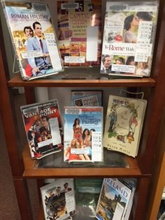 Mulitmedia display: Traveling Europe by book and film Plainville Public Library, MA