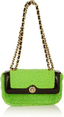 ShopStyle: Moschino Cheap and Chic Dolly shearling shoulder bag