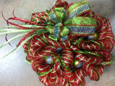 Wild Christmas deco mesh wreath $55 on Facebook Wild Child Designs Www.facebook.com/wildchilddesignsLLC .com