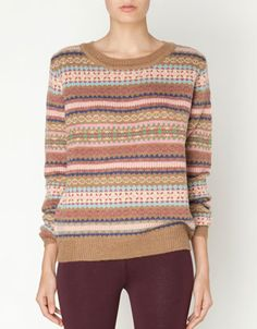 Jacquard jersey - Sweaters & Cardigans - United Kingdom Jersey Jacquard, Sweaters, Cardigans, Pullover, How To Wear, United Kingdom, Clothes, Style, Blog