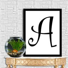 Letters A Print Letters E Digital Monogram Print Initial Print Digital Quote Print Digital Typography Art Wall Decor Poster 8X10 11x14 by sweetdownload on Etsy