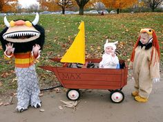 Yes, I am already planning halloween.  Yes, I am making our wagon into this boat!