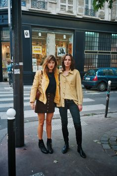 JEANNE DAMAS (with a friend)