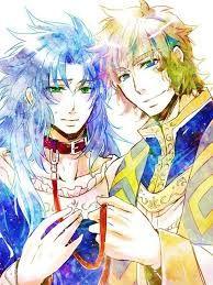 Gemini Saga and Sagittaius Aioros