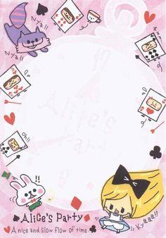 Alice letter paper