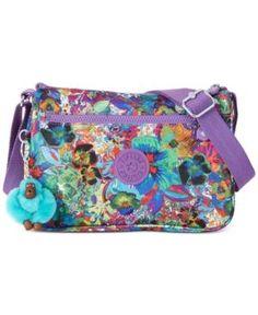 Kipling Callie Crossbody - Aloha Grove Purple