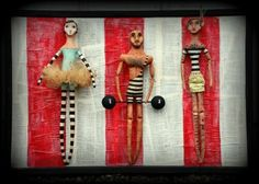 Circus art dolls by Rachel Whetzel - via Joanne Walker What a great circus line up!