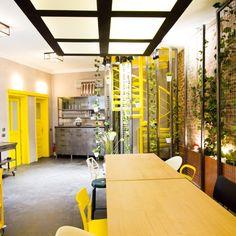 Diesel Social in Bucharest Bucharest, Diesel, Conference Room, Divider, Kitchen, Table, Public, Furniture, Space