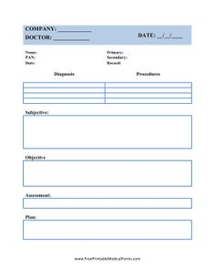 Patient Progress Notes Template At HttpWwwWordexceltemplates