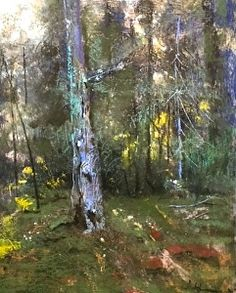 Woodland Song by Tom Christopher Pastel ~ 24 x 18 Pastel Landscape, Landscape Artwork, Abstract Landscape, Pastel Drawing, Pastel Art, Pastel Paintings, Tree Paintings, Watercolor Pictures, Watercolor Trees