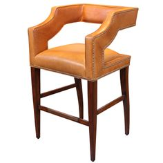 Contemporary Leather Bar Chair