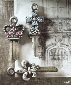 couture keys by keys to my castle... unlock your own door with key fit for a castle.