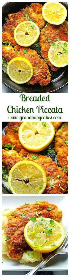 Breaded Chicken Piccata | Grandbaby Cakes...I love chicken piccata