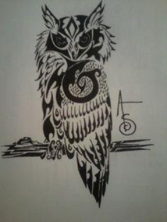 Tattoo Maze - A wonderful place for all things Tattoo's Tribal Owl Tattoos, Mens Owl Tattoo, S Tattoo, Tattoo Shop, Back Tattoo, Body Art Tattoos, Girl Tattoos, Owl Tattoo Design, Tattoo Designs Men