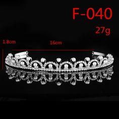 F040 Pearl Bead Bridal Floral Rhinestone Crystal Prom Wedding Tiara Crown