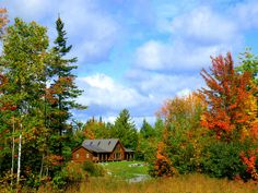 Cabin in the New Hampshire woods